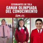 Tres alumnos tulenses estarán con AMLO tras brillar en Olimpiada del Conocimiento